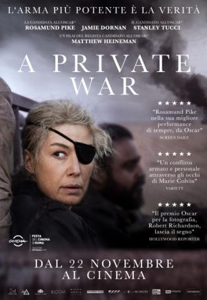 A PRIVATE WAR dal 22 novembre al cinema